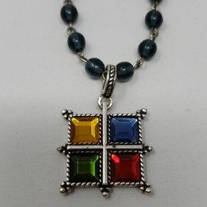 Napier 4 square necklace